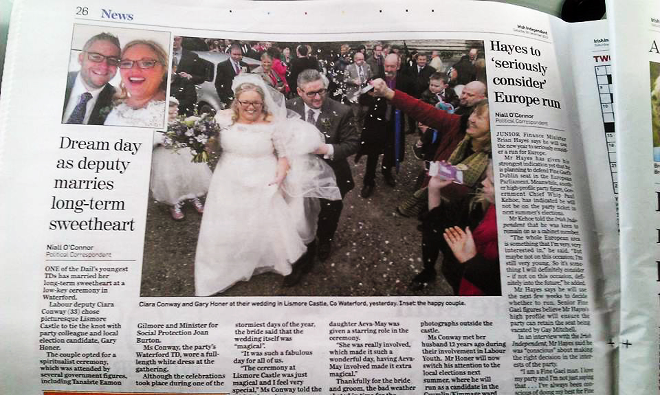 VW Weddings Ireland Irish Independant Newspaper